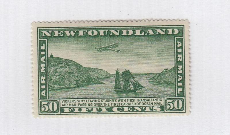 NEWFOUNDLAND UNITRADE REF(88)# C7 VF-MVLH AIRPLANE AND PACKET SHIP CAT VAL $50+