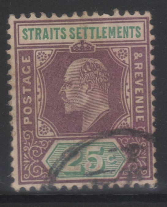 STRAITS SETTLEMENTS 1902-1903 CROWN CA SG116 USED CAT £12