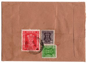 India 1982 Cover with Officials 2r, 5p & 1r (see descr.)