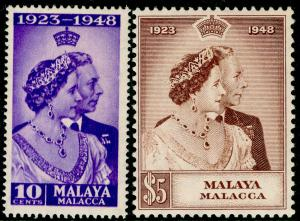MALAYSIA - Malacca SG1-2, COMPLETE SET, NH MINT. Cat £35. RSW