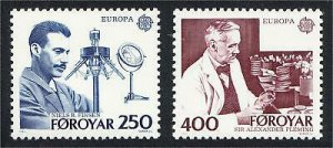 Faroe Islands 1983 #95-6 MNH. Science, Nobel, Europa