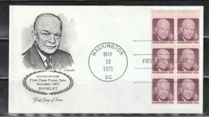 USA Stamps on cover, Scott#1395(b), First day of issue, Booklet pane of 6,