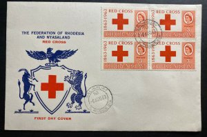 1963 Salisbury Southern Rhodesia First Day Cover FDC Red Cross Issue