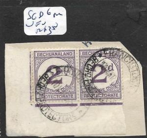 BECHUANALAND (P1801B) POSTAGE DUE 2D SG D6  PR   VFU