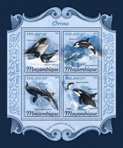 MOZAMBIQUE - 2018 - Orcas - Perf 4v Sheet- MNH