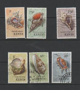 KENYA STAMPS scott 45-50 hi denom shells 47 0418