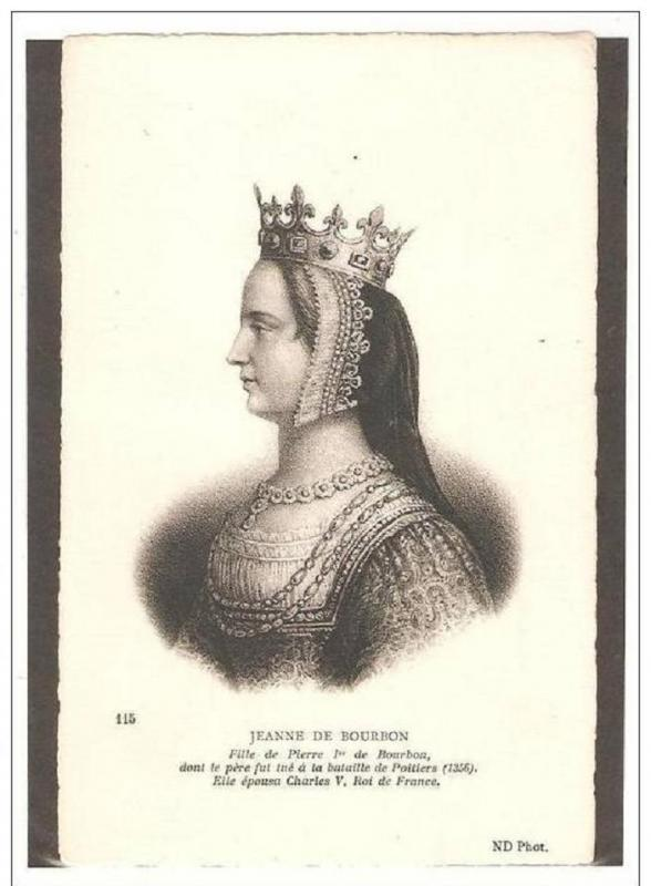Joanna of Bourbon Queen of France 1364–1378 House of Bourbon,Wife of Charles V
