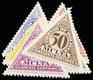 BOLIVIA J1-6  Mint (ID # 101828)