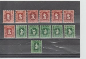 Hungary  Scott#  788A-800  MH  (1946 Industry & Agriculture)