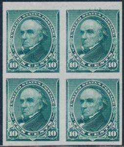 #226P3 BLOCK OF 4 PLATE PROOF ON INDIA PAPER XF BT2159