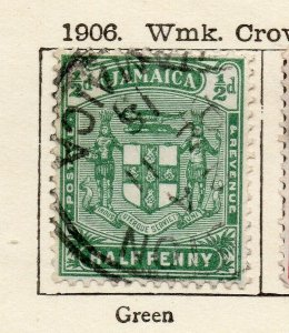 Jamaica 1906 Early Issue Fine Used 1/2d. NW-114302
