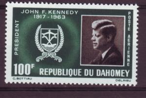 J15301 JLstamps 1965 dahomey set of 1 mh #c30 kennedy
