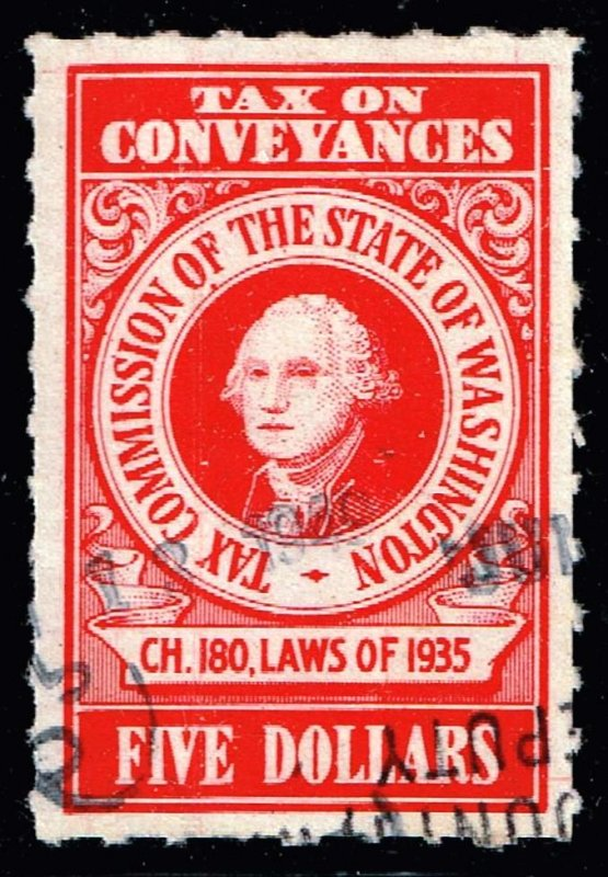 US STAMP BOB  STATE OHIO $5 TAX PAID STAMP