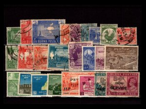 Burma 25 Mint and Used, some faults - C2904