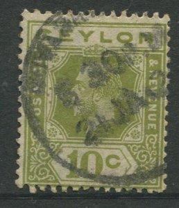STAMP STATION PERTH Ceylon #233  KGV Definitive  Wmk 4  Used 1921-1933