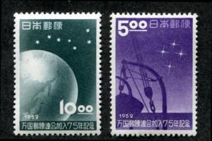 Japan 552-553 MNH Space