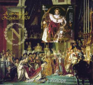 Sao Tome & Principe 2004 NAPOLEON CORONATION PAINTING s/s Imperforated Mint (NH)