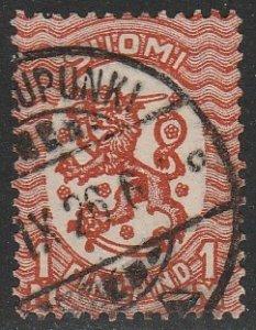 Finland #102 Used Single Stamp cv $24 (U1)