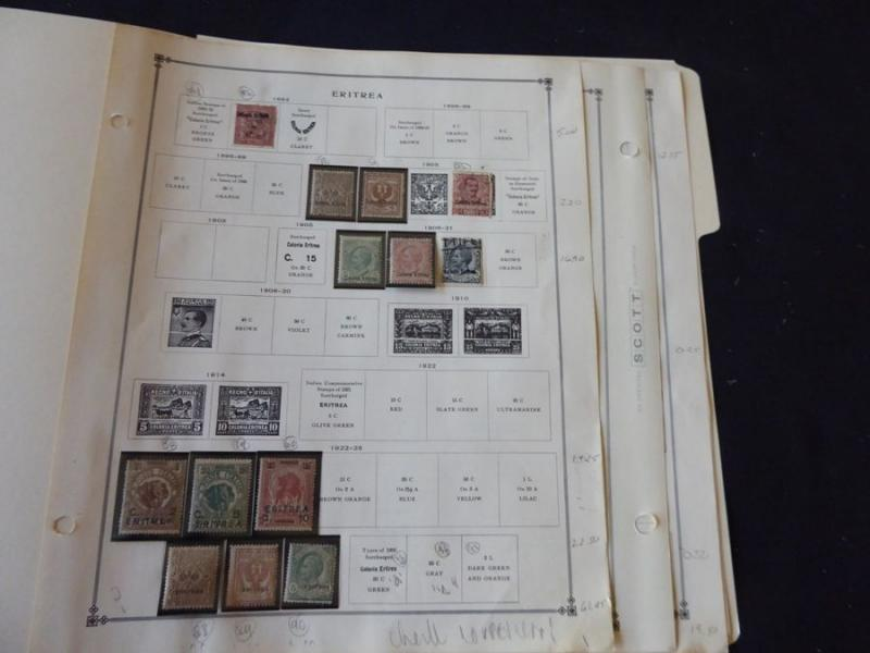Eritrea 1892-1934 Mint/Used Stamp Collection on Scott Int Album Pages