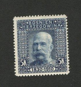 BOSNIA - AUSTRIA - MH STAMP , 5k -1910.