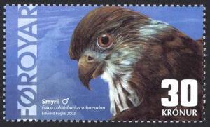 Faroe Islands Sc# 423 MNH 2002 30k Falcon