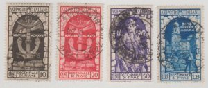 Italy Scott #315-318 Stamps - Used Set