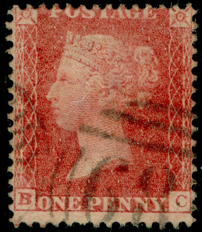 SG38, 1d pale red, LC14, FINE USED. Cat £35. BC