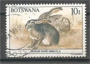 BOTSWANA, 1987, used 10t, Wildlife, Scott 411