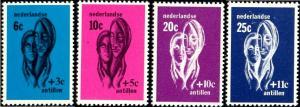 Helping Hands Supporting Women, Netherlands Antilles SC#B77-B80 MNH set