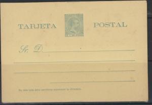 O)1898 PUERTO RICO, POSTAL STATIONARY, 5 C DE PESO-GREEN, KI