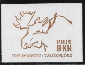 SWEDEN SC# 764a COMP BKLT/10 FVF/MLH 1967