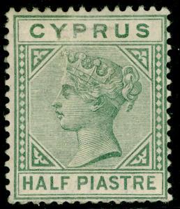 CYPRUS SG31, ½pi dull green, M MINT. Cat £15.