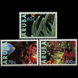 ARUBA 1990 - Scott# 56-8 Marine Life Set of 3 NH