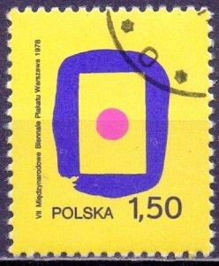 Poland. 1978. 2559. Art Biennale. USED.