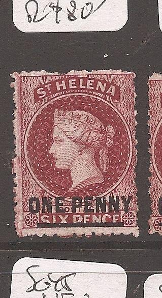 St Helena QV SG 7 MNG (9cam)