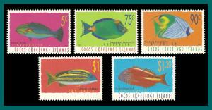 Cocos 1997 Fish Definitives , MNH 304-314,SG332-SG342