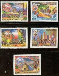 Vatican City Sc# C83-C87 MNH Complete Set Papal Journeys 1986