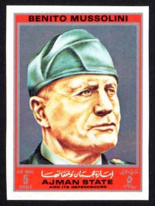 Ajman Mi #2523B  mnh - 1972 Benito Mussolini - imperf