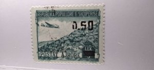 Albania #C61 MNH (ink splatter from overprint) e21.4 13152