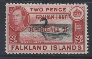 Falkland Is Dep.- Scott 2L3- Overprint Definitive-1944- MLH - Single  2d Stamp