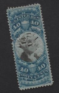 $US Sc#R114 used/F-VF, cut cancel, Revenue stamp, Cv. $50