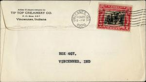 #651-17A U.S. FIRST DAY COVER VINCENNES, IND. AT BACK CACHET BM9537