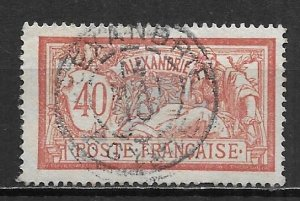 France Offices in Egypt - Alexandria 26 40c single Used (z1)