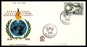Comoro Islands 56 Human Rights Typed FDC