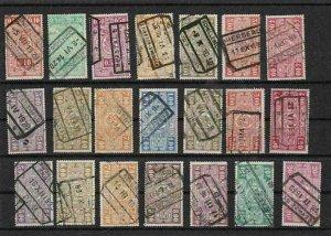 belgium railway parcel  stamps   ref 7978