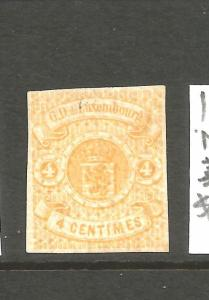 LUXEMBOURG 1859-64  4c  ORANGE MLH IMPERF    Sc 6a  CV $250