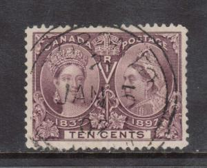 Canada #57 XF Used Gem With Jan 5 1902 Ideal Date Cancel