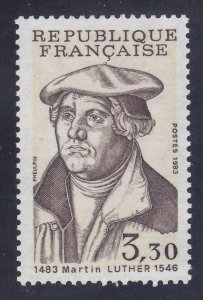 France 1859 MNH OG 1983 Martin Luther Issue Very Fine