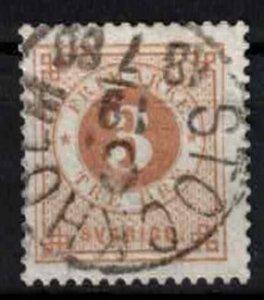 Sweden - SG16ab- 3ö ring type perf 13. CV 6.25£ (approx 7.25 Eur)