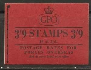 Great Britain BK94 SG G18 3sh9d Booklet Feb 1957 MNH
